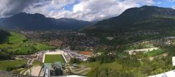Archived image Webcam Garmisch-Partenkirchen Olympia Hill 08:00