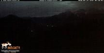 Archiv Foto Webcam Blick von Mecki's Alm Hütte auf der Faschingalm 22:00