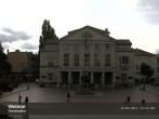 Archiv Foto Webcam Weimar Theaterplatz und Deutsches Nationaltheater 08:00