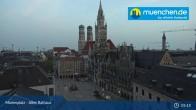 Archiv Foto Webcam Marienplatz München - Altes Rathaus 23:00