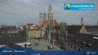 Archiv Foto Webcam Marienplatz München - Altes Rathaus 05:00