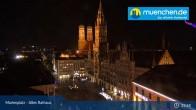 Archiv Foto Webcam Marienplatz München - Altes Rathaus 21:00