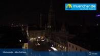 Archived image Webcam Marienplatz Munich, Bavaria 23:00