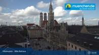 Archived image Webcam Marienplatz Munich, Bavaria 12:00