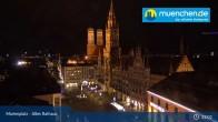 Archiv Foto Webcam Marienplatz München - Altes Rathaus 04:00