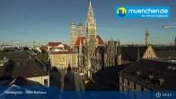 Archiv Foto Webcam Marienplatz München - Altes Rathaus 08:00