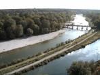 Archiv Foto Webcam Isar in München - Flauchersteg und südlicher Flaucher 08:00