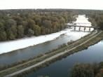 Archiv Foto Webcam Isar in München - Flauchersteg und südlicher Flaucher 12:00