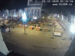 Archived image Webcam Republic Square Pilsen, Czech Republic 23:00