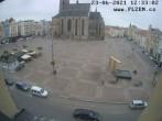 Archived image Webcam Republic Square Pilsen, Czech Republic 06:00