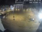 Archiv Foto Webcam Platz der Republik in Pilsen (Plzen) 20:00