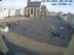 Archiv Foto Webcam Platz der Republik in Pilsen (Plzen) 02:00