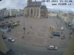 Archiv Foto Webcam Platz der Republik in Pilsen (Plzen) 08:00