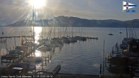 Archived image Webcam Attersee: View at Union Yacht Club 00:00