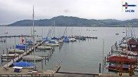 Archived image Webcam Attersee: View at Union Yacht Club 08:00