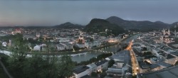 Archiv Foto Webcam Panorama Stadt Salzburg 22:00