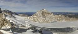 Archiv Foto Webcam Dachstein Gletscher: Panoramablick von der Bergstation 08:00