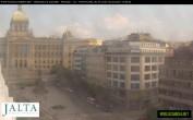 Archived image Webcam Wenceslas Square in Prague 10:00