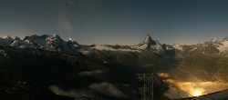 Archived image Webcam Panoramic view from Rothorn 20:00