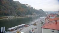 Archiv Foto Webcam Passau Altstadt - Donaublick am Hotel König 06:00