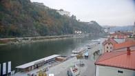 Archiv Foto Webcam Passau Altstadt - Donaublick am Hotel König 08:00