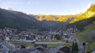 Archiv Foto Webcam Zermatt: Blick auf das Dorf 02:00