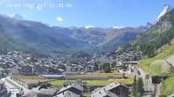 Archiv Foto Webcam Zermatt: Blick auf das Dorf 06:00