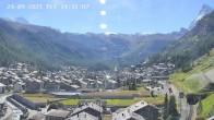 Archiv Foto Webcam Zermatt: Blick auf das Dorf 08:00