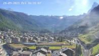 Archiv Foto Webcam Zermatt: Blick auf das Dorf 10:00
