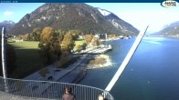 Archived image Webcam Pertisau at Achensee, footbridge 08:00
