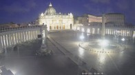 Archived image Webcam St. Peter's Square - Piazza San Pietro in the Vatican City 00:00