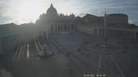 Archived image Webcam St. Peter's Square - Piazza San Pietro in the Vatican City 12:00