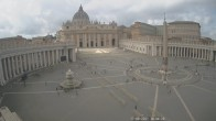 Archived image Webcam St. Peter's Square - Piazza San Pietro in the Vatican City 08:00