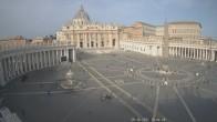 Archiv Foto Webcam Petersplatz und Petersdom, Vatikanstadt - Piazza San Pietro 10:00
