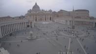 Archiv Foto Webcam Petersplatz und Petersdom, Vatikanstadt - Piazza San Pietro 18:00