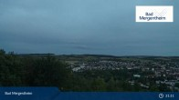 Archived image Webcam View from the Ketterberg to Bad Mergentheim 23:00