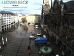 Archiv Foto Webcam am Marienplatz München 02:00