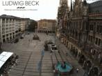 Archiv Foto Webcam am Marienplatz München 08:00