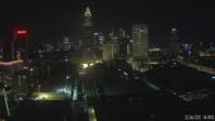Archived image Webcam Frankfurt: View at the Skyline 22:00