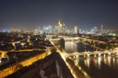 Archived image Webcam Panoramic View over to the Skyline of Frankfurt 20:00