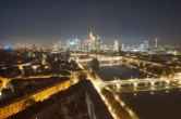 Archived image Webcam Panoramic View over to the Skyline of Frankfurt 22:00