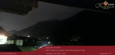 Archived image Webcam View to Neustift and Serles 23:00