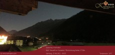 Archived image Webcam View to Neustift and Serles 18:00