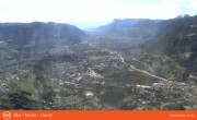 Archived image Webcam View from mountain Mutspitze towards Meran 04:00