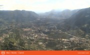 Archived image Webcam View from mountain Mutspitze towards Meran 08:00
