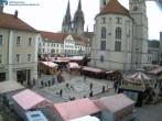Archived image Webcam Regensburg: View Neupfarr Place 04:00