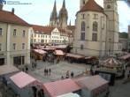 Archived image Webcam Regensburg: View Neupfarr Place 08:00