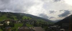 Archived image Webcam Panorama: Alpinresort Saalbach 04:00