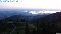 Archived image Webcam Kampenwand - View to the North 22:00