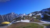 Archived image Webcam Leukerbad - Top station Rinderhütte 02:00